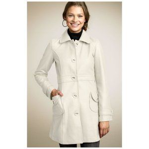 Tulle Big Button Nordstrom Coat, Cream